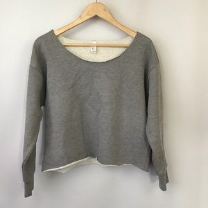 American Apparel Tops - AMERICAN APPAREL Cropped Heavy Terry Pullover